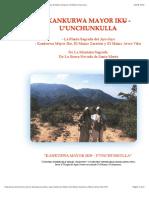 Kankurwa Mayor Iku-U'Unchunkulla. La Planta Sagrada del Ayu-Jayo
