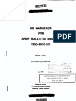 GB Warheads for Army Ballistic Missiles 1950 - 1966