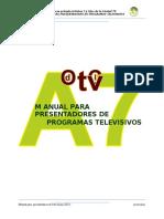 Manual para Presentadores de Television