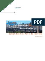 Sao Paulo Forum Report FR
