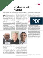 DNA Repair Sleuths Win Chemistry Nobel