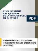 Etica Cristiana y Gestion Publica