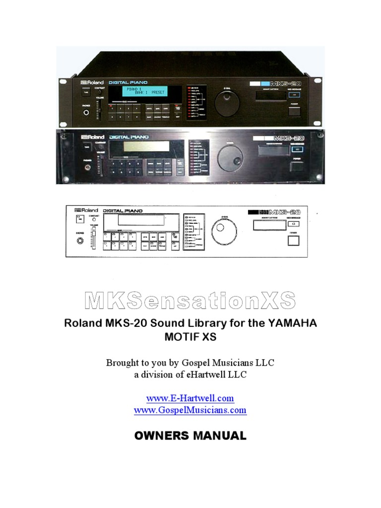 Mksensationxs: Roland Mks-20 Sound Library For The Yamaha