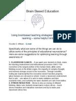 using brain based education