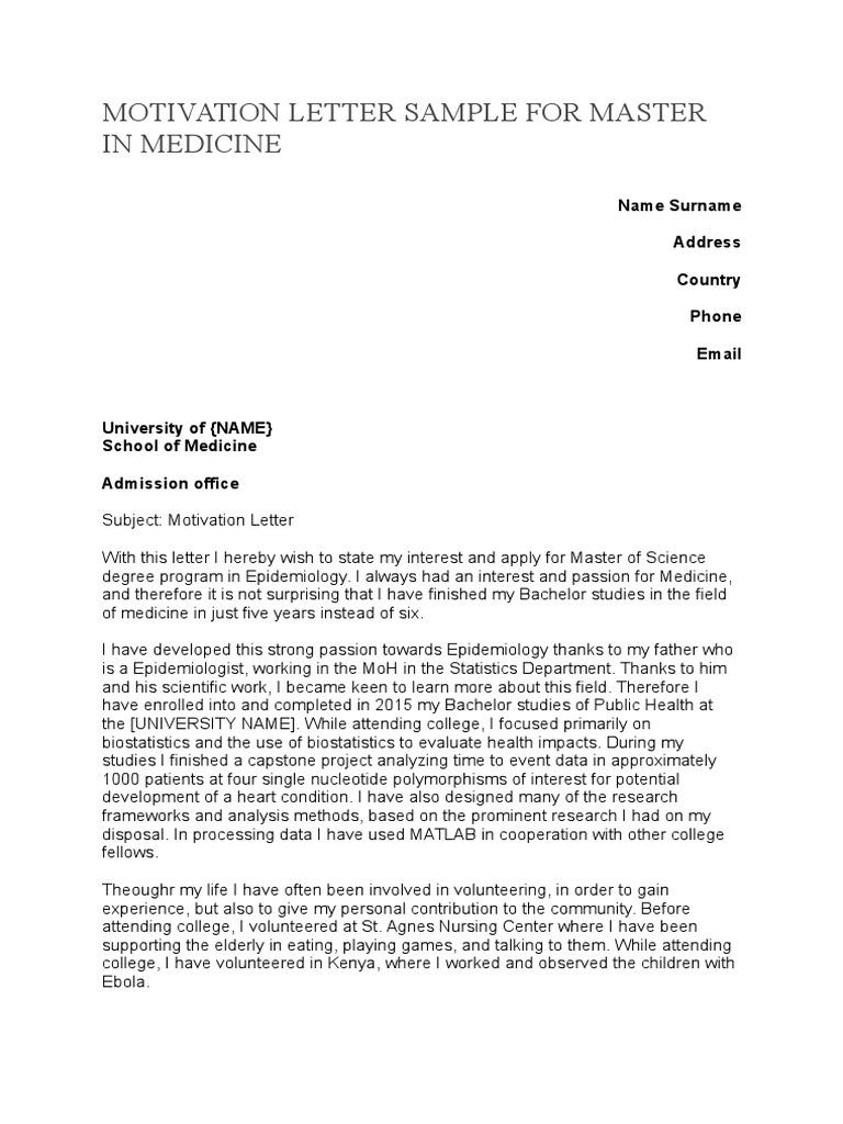 Motivation letter sample for master in medicinec epidemiology motivation letter sample for master in medicinec epidemiology biostatistics spiritdancerdesigns Gallery
