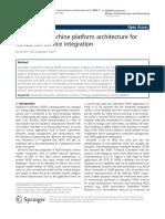Machine-to-machine platform architecture for horizontal service integration