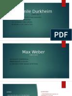 Presentación Durkheim y Weber