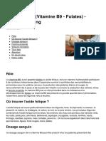 Acide Folique Vitamine b9 Folates Analyse de Sang 6989 Nekuc7