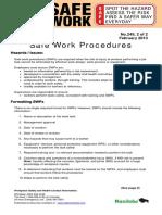 Safe Work Procedures
