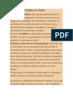 Historia Del Tejido En