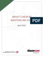 Mastercam 2017 WhatsNew