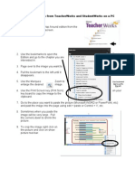 Capturing Images From TeacherWorks and StudentWorks on a PC