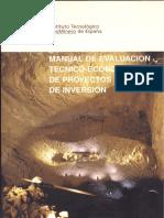 manual de evaluacion tecnico-economico de proyectos mineros de inversion _1.pdf