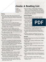 Residentiall School Reading List