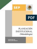Metodologia Planeacion Institucional SEP