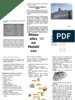 Triptico Minerales No Metalicos
