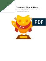 Turkish Grammar Tips Hints