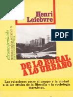 Lefevre,Henri_De Lo Rural a Lo Urbano