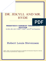 STEVENSON, R.L. Dr. Jekyll and Mr. Hyde. Thesaurus Edition