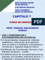 Cap 7 Hidrologia Evaporacion