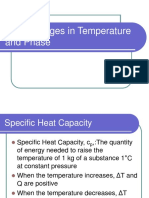 10-3 Changes in Temperature and Phase