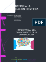 Introducción a La Comunicación Científica Espe