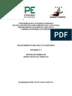 Informe 2_ Inspeccion en El Vehículo