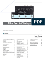 Tc Electronic Alter Ego x4 Vintage Echo Manual Spanish