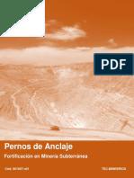Pernos de Anclaje en Mineria Subterranea