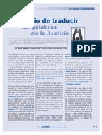 El Desafio de Traducir Palabras Juridicas