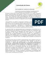 Comunicado de Prensa - Desalojo de La Rotonda