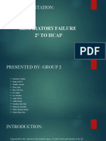 Respiratory Failure s/t HCAP