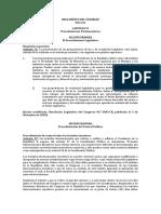 Reglamento Del Congreso (Extracto)