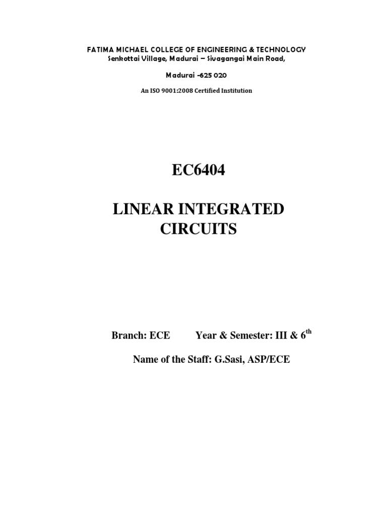 Ec6404 Uw Operational Amplifier Light Dependent Resistor Ldr Used In Digital Meter Eeweb