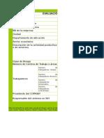 Matriz de Evaluacion Inicial Sg Sst