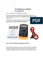 Multimetro Digital Xl830l