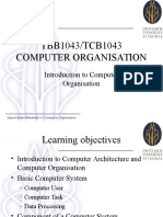 TAB1043_LectW01 - Introduction to Computer Organisation