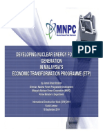 Developing of Nuclear Energy for Power Generation Under Malaysia's ETP