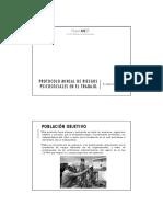Protocolo de Riesgos Psicosociales en El Trabajo
