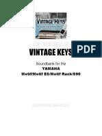 Vintage Keys Manual