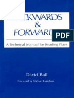 David Ball Backwards Forwards a Technical Manual for Reading Plays
