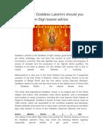 Goddess Lakshmi - Moon-Sign