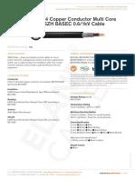Bs 6724 Copper Conductor Multi Core Swa Lszh Basec 0 6 1 Kv Cable