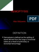 Week 2 Hemopthysis - 9 November 2012