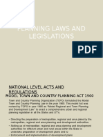 Planning Laws and Legislations