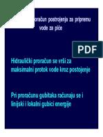 Hidraulicki Proracun Postrojenja _Voda za Pice