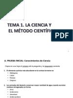 Tema 1. Ciencia y Método Científico