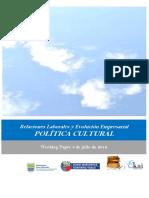 Relaciones Laborales y Evolucion Empresarial. POLITICA CULTURAL