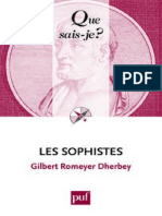 Les Sophistes - Romeyer Dherbey Gilbert