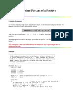 Finding All Prime Factors of a Positive Integer